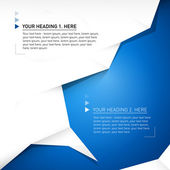 Vector abstract blue background with paper — Vetorial Stock