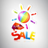 Summer Sale theme with abstract ball — Stock Vector