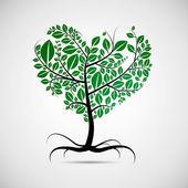 Abstract heart-shaped tree — Stock Vector