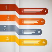 纸进展步骤教程 — 图库矢量图片