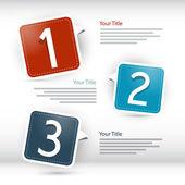 Paper progress steps for tutorial, infographics — Wektor stockowy
