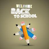 Vector terug naar school theme — Stockvector