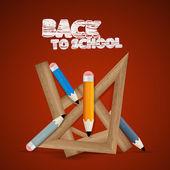 Vector Back to school theme — Stock Vector