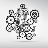 Abstract vector cogs - gears — Stock Vector