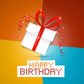 Happy birthday theme — Stock Vector