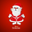 Santa Claus on red background — Stock Vector