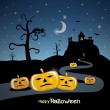 Happy Halloween theme — Imagen vectorial