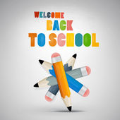 Colorful vector Back to school theme — Stock Vector