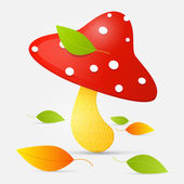 Amanita vector illustration — Stockvektor