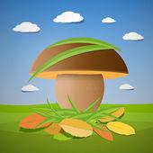 Vector mushroom — Stock Vector