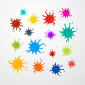 Colorful Vector Stains, Splashes Set — Stock Vector