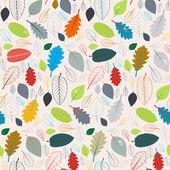 Seamless Pattern - Autumn Leaves — Stockvektor