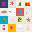 Vector Christmas Icons Set  — Stok Vektör