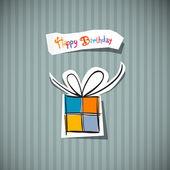 Retro tarjeta de feliz cumpleaños — Vector de stock