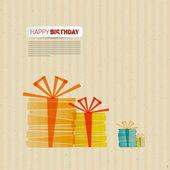 Retro Happy Birthday Theme — Stock Vector