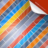 Abstract Retro Vector Brick Background — Stock Vector