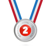 Second Place, Silver Medal — Stock Vector