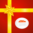 Red Abstract Vector Merry Christmas Background — 图库矢量图片