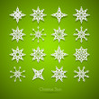 Paper Snowflakes Set — Stock Vector