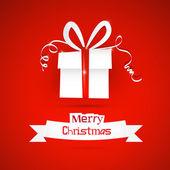 Red abstract vector frohe weihnachten hintergrund — Stockvektor