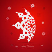 Red Abstract Vector Merry Christmas Background — Wektor stockowy