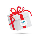 Vector Present Box, Gift Box — Stock Vector