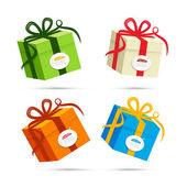 Vector Present Box, Gift Box Set — Stock Vector