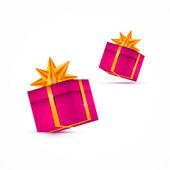 Cuadro actual de vector, regalo box set — Vector de stock