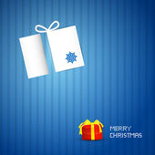 Blue Abstract Vector Merry Christmas Background — Stockvector