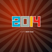 Vector Happy New Year Background — Stock Vector