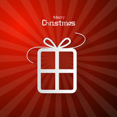 Red Abstract Vector Merry Christmas Background — Stockvector