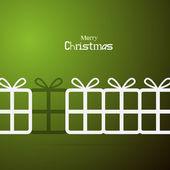 Grüne abstract vector frohe weihnachten hintergrund — Stockvektor