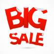 Red Big Sale Sticker — Stock Vector