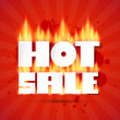 Hot Sale Title In Flames — Stock Vector