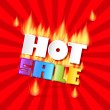 Hot Sale Title In Flames — Stock Vector #35877237