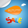 Autumn Sale Background — Stock vektor
