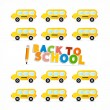 Vector Back to School Theme — Stock Vector