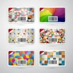 Vector Gift Card Set — Stock Vector