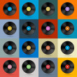 Vintage Vinyl Record Disc Background — Stok Vektör #35877993