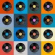 Vintage Vinyl Record Disc Background — Imagen vectorial
