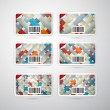 Vector Gift Card Set — Image vectorielle