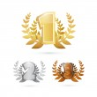 First, Second and Third Place Set — Stock Vector