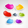 Colorful Stickers — Stock Vector