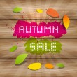 Autumn Sale Background — Stock Vector
