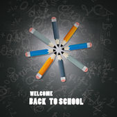 Back to school theme — Stock Vector