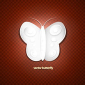 Butterfly made of paper — Stockvektor