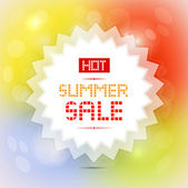 Hot summer sale — Stock Vector