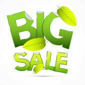 Green Big Sale Sticker — Vettoriale Stock
