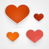 Hearts on Grey Background — Wektor stockowy