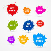 Sale Blots Icons — Stock Vector